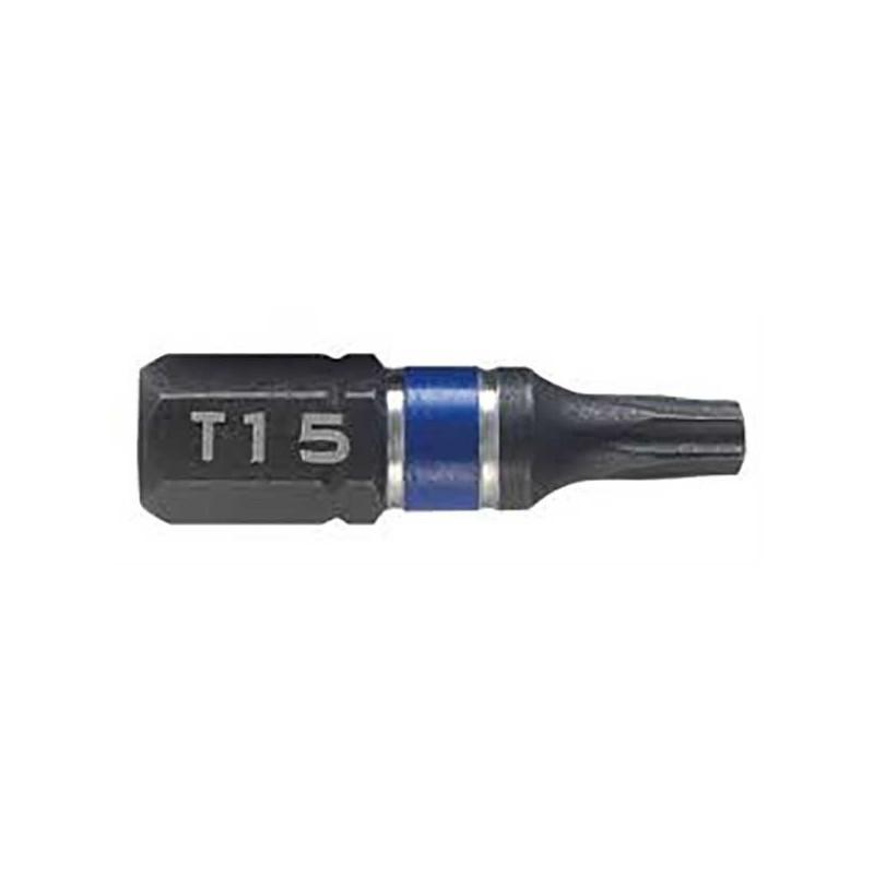 Bit udarowy jednostronny - T15 25 mm - 2 szt. 1923328