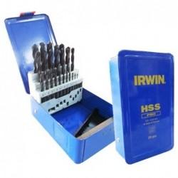 Zestaw 25 wierteł HSS PRO DIN-338:  1.0 - 13.0 mm co 0.5 mm