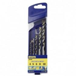 Zestaw 5 wierteł uniwersalnych Cordless:  4, 5, 6, 8, 10 mm