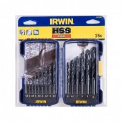 Zestaw 15 wierteł:- uniwersalne Cordless: 4, 5, 6, 8 mm- HSS PRO: 2, 3, 3.5, 4, 5, 6, 8 mm- spiralne do drewna: 3, 4, 6, 8 mm