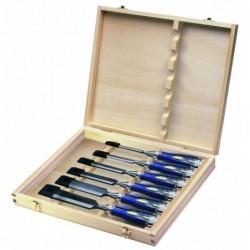 Zestaw 6 dłut MS750 w drewnianym pudełku - 6, 10, 15, 20, 25, 35 mm [10503733]