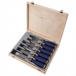 Zestaw 6 dłut MS500 w drewnianym pudełku - 6, 10, 12, 16, 20, 26 mm [10503431]